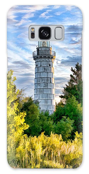 Door County Cana Island Beacon Galaxy Case