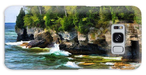 Door County Cave Point Cliffs Galaxy Case