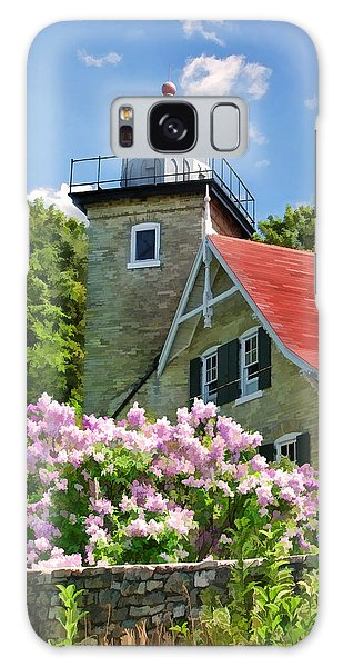 Door County Eagle Bluff Lighthouse Lilacs Galaxy Case