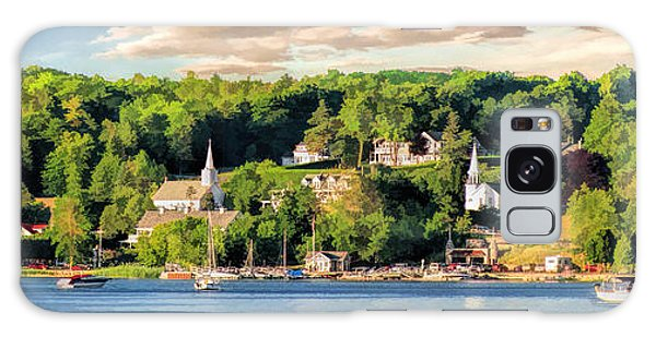 Door County Ephraim Harbor Sunset  Panorama Galaxy Case