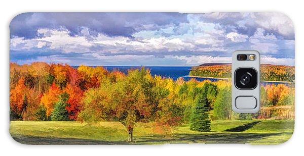 Door County Grand View Scenic Overlook Panorama Galaxy Case