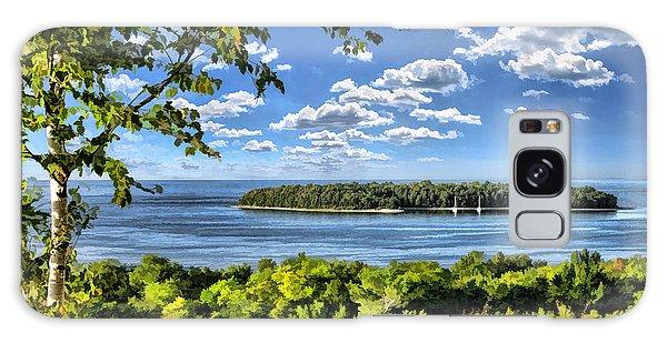 Door County Horseshoe Island Galaxy Case