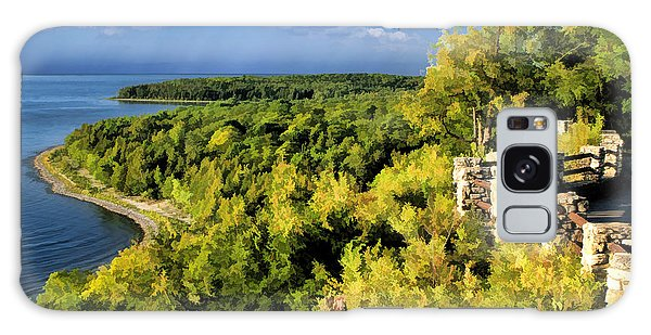 Door County Peninsula State Park Svens Bluff Overlook Galaxy Case