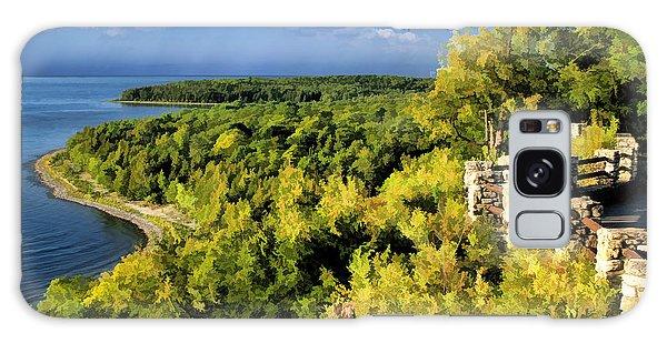 Door County Peninsula State Park Svens Bluff Overlook Galaxy Case
