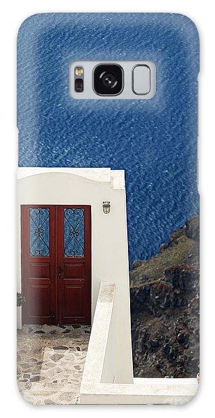 Door Facing The Aegean Sea Galaxy Case by Aiolos Greek Collections