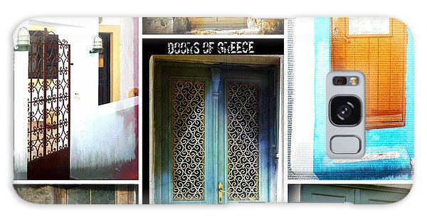 Doors Of Greece Collage Galaxy Case