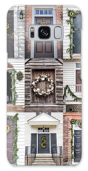 Royal Colony Galaxy Case - Doors Of Williamsburg Collage by Teresa Mucha