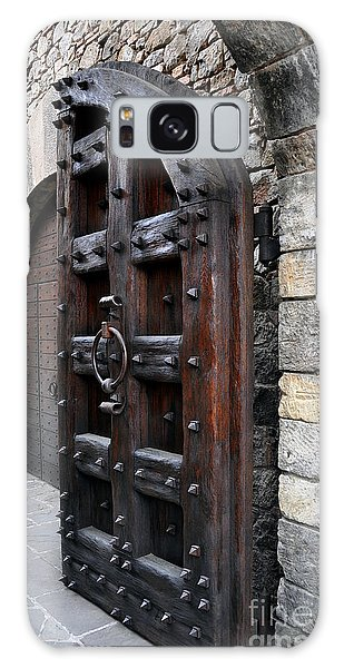 Doorways Of Castello Di Amorosa Galaxy Case by Gina Savage