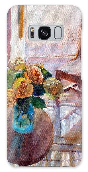 Dormer Light- Morning Light And Roses Galaxy Case by Bonnie Mason