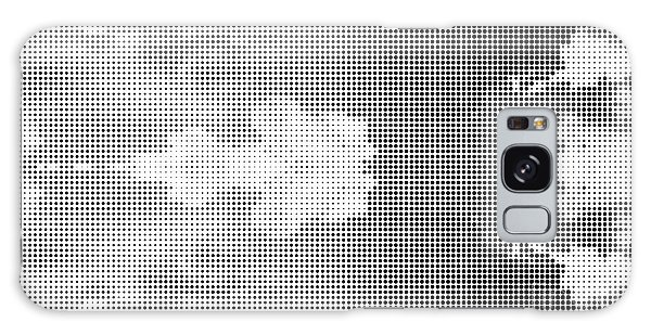 White Galaxy Case - Dotted Background Texture Halftone Dots by Social Media Hub