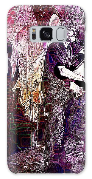 Double Bass Silhouette  Galaxy Case by Ian Gledhill