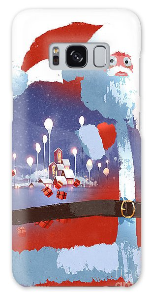 Santa Claus Galaxy Case - Double Exposure Of Santa Claus And by Tithi Luadthong