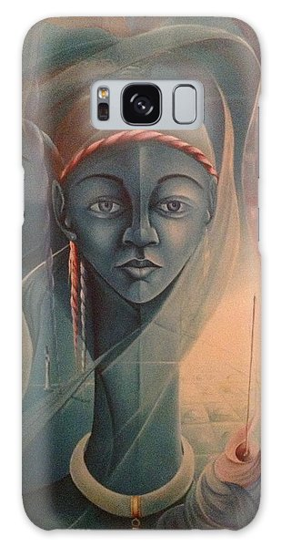 Double Face Of A Voodoo Woman Galaxy Case by Haitian artist