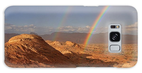 Double Rainbow At The Valley Of Fire Galaxy Case