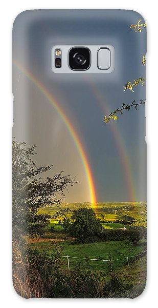 Double Rainbow Over County Clare Galaxy Case