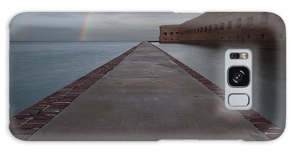 Double Rainbow Over Fort Jefferson Galaxy Case by Keith Kapple