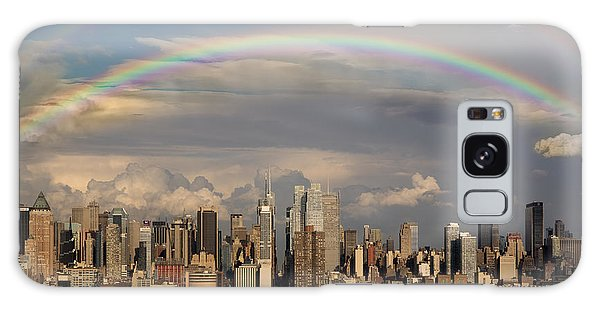 Galaxy Case featuring the photograph Double Rainbow Over Nyc by Susan Candelario