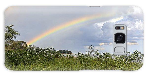Double Rainbow Sheffield Island Galaxy Case by Marianne Campolongo