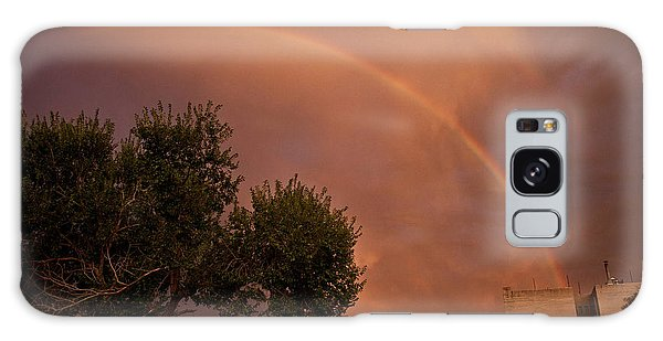 Double Red Rainbow With Tree In Jerome Galaxy Case