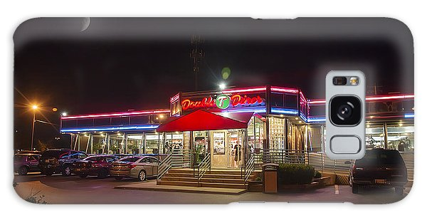 Double T Diner At Night Galaxy Case by Brian Wallace