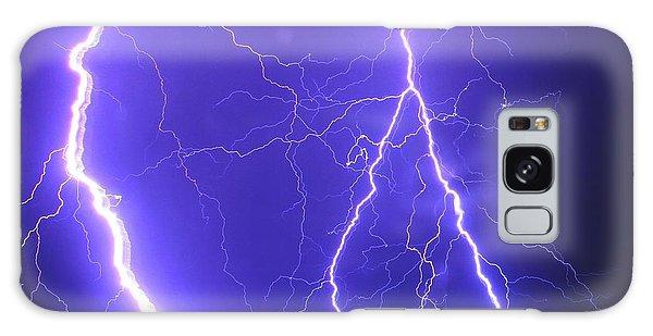 Double Triple Blue Lightning Galaxy Case