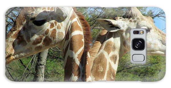 Giraffes With A Twist Galaxy Case