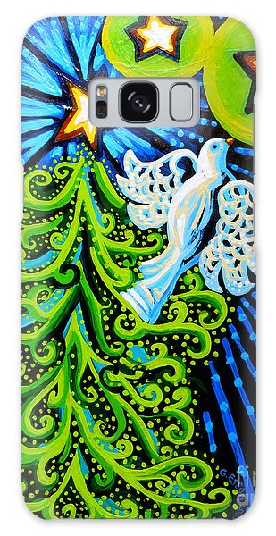 Dove And Christmas Tree Galaxy Case