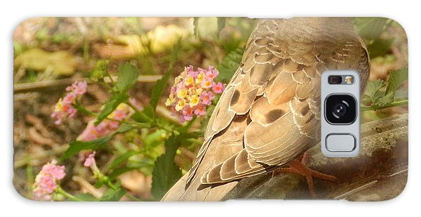 Dove And Lantana Galaxy Case