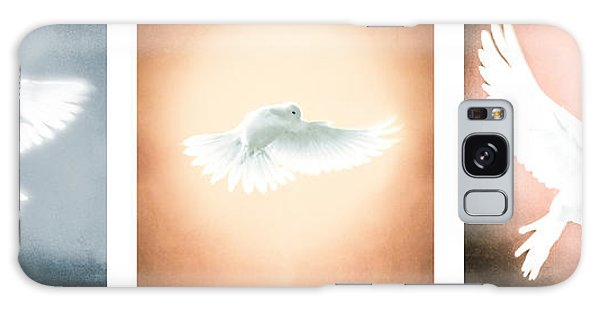Dove In Flight Triptych Galaxy Case
