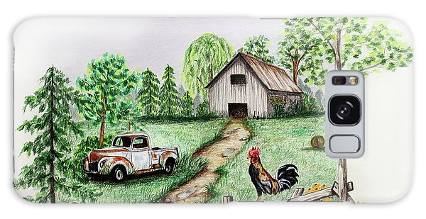 Old Truck Galaxy Case - Down On The Farm by Lena Auxier