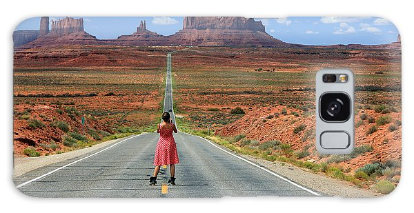 Desert View Tower Galaxy Case - Down The Road To Monument Valley by Johnny Adolphson
