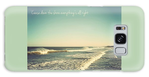Down The Shore Seaside Heights Vintage Quote Galaxy Case
