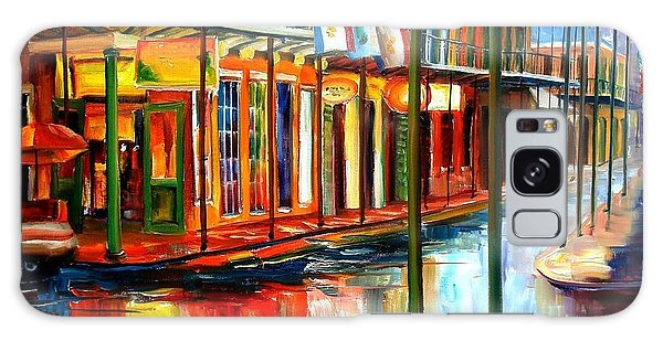 City Scenes Galaxy S8 Case - Downpour On Bourbon Street by Diane Millsap