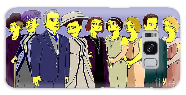 Downton Abbey - Cast Nine Galaxy Case by Donna Huntriss