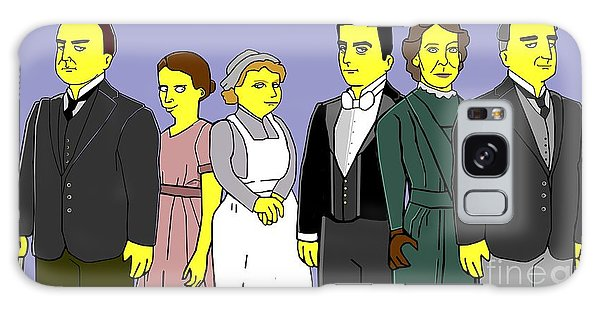Downton Abbey - Downstairs 6 Galaxy Case by Donna Huntriss