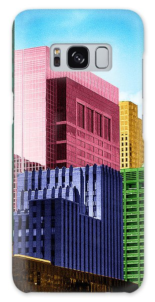 Downtown Building Blocks Galaxy Case