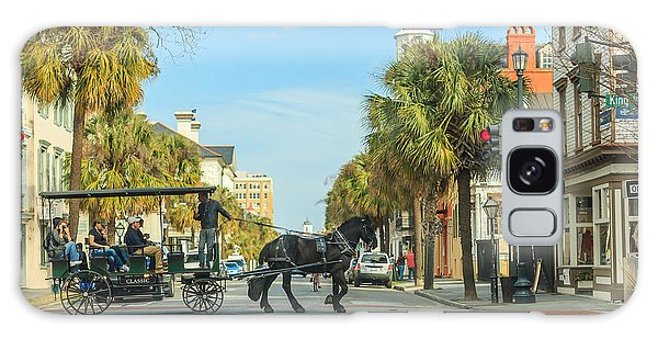 Downtown Charleston Stroll Galaxy Case