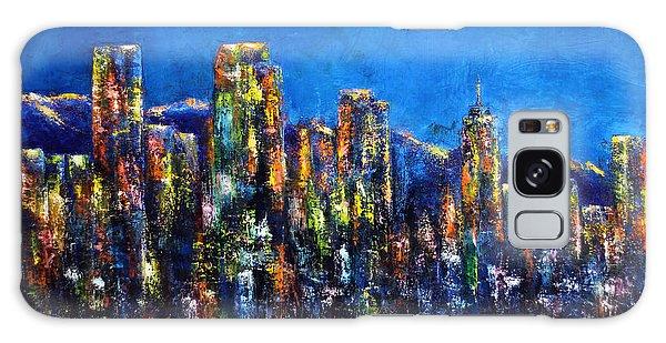 Downtown Denver Night Lights Galaxy Case