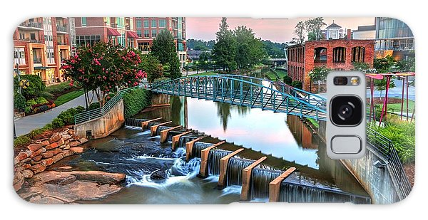 Downtown Greenville On The River Galaxy Case