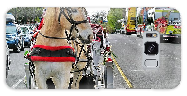 Downtown Horses Buses And Cars Galaxy Case