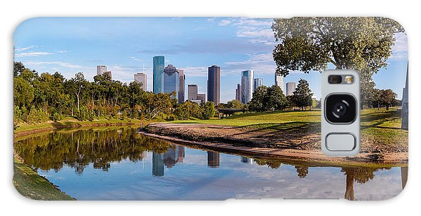 Downtown Houston Panorama From Buffalo Bayou Park Galaxy Case