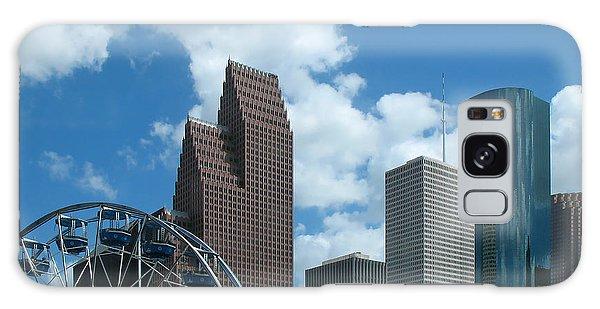 Downtown Houston With Ferris Wheel Galaxy Case