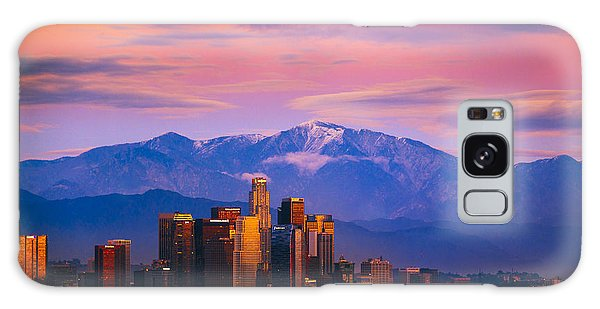 Downtown Los Angeles After Sunset Galaxy Case