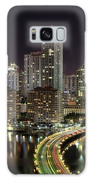 Downtown Miami From Brickell Key Galaxy Case