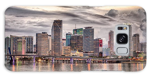 Downtown Miami Skyline In Hdr Galaxy Case