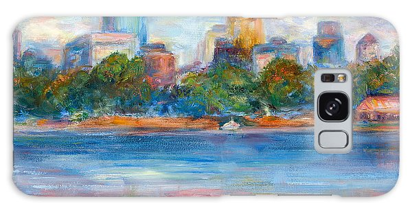 Downtown Minneapolis Skyline From Lake Calhoun II - Or Commission Your City Painting Galaxy Case