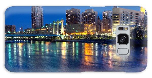 Downtown Minneapolis Skyline Hennepin Avenue Bridge Galaxy Case