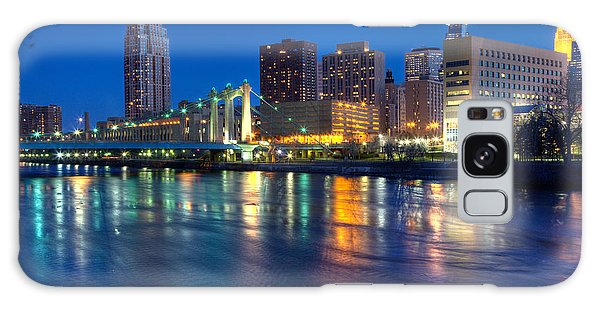 Downtown Minneapolis Skyline Hennepin Avenue Bridge Galaxy Case