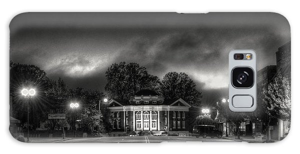 Downtown Murphy Nc In Black And White Galaxy Case