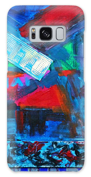 Downtown Night Lights Galaxy Case by Walter Fahmy